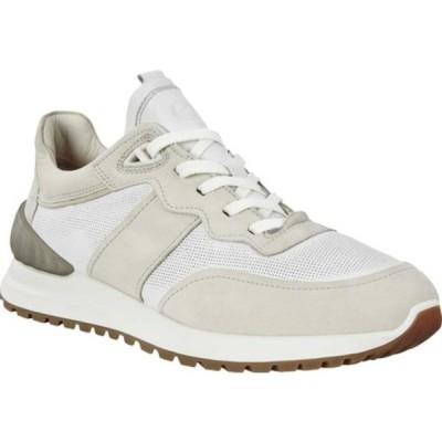 エコー スニーカー シューズ メンズ Astir Retro Sneaker (Men's) White Gravel Full Grain Leather/Nubuck
