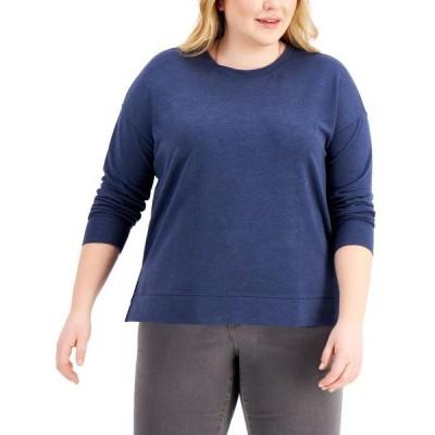 スタイルアンドコー レディース シャツ トップス Plus Size Crewneck Sweatshirt