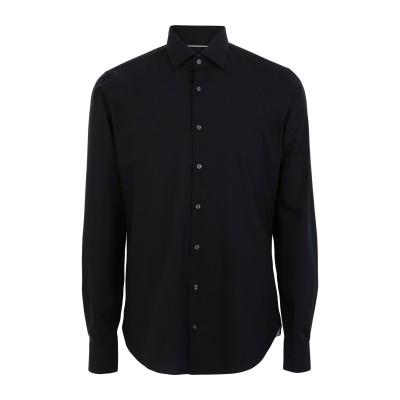 MICHAEL KORS MENS シャツ ブラック 38 コットン 98% / ポリウレタン 2% シャツ