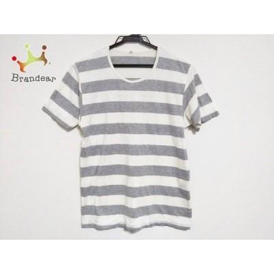 マドモアゼルノンノン 半袖Tシャツ サイズM レディース アイボリー×グレー ボーダー  スペシャル特価 20200815
