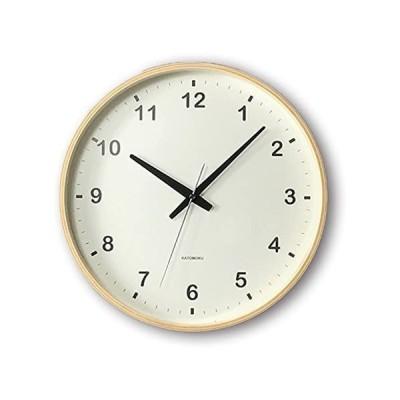 KATOMOKU plywood wall clock ナチュラル スイープ(連続秒針) km-33L φ304mm (ナチュラル Lサイズ)