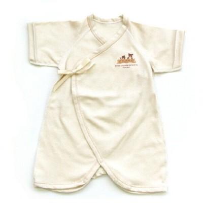 日本製ベビー服 コンビ肌着 オーガニックコットン100% 50cm 50-60cm 1201512 メール便