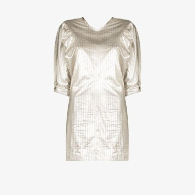 イザベル マラン Isabel Marant レディース パーティードレス ミニ丈 ワンピース・ドレス pinstriped mini dress silver