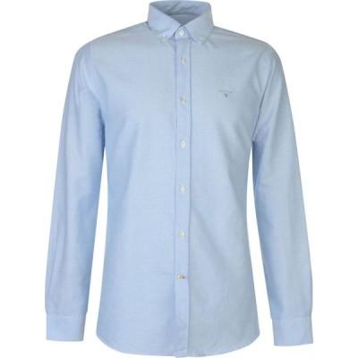 バブアー Barbour メンズ シャツ ワイシャツ トップス Oxford 3 Tailored Shirt Sky