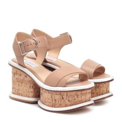 ガブリエラ ハースト Gabriela Hearst レディース サンダル・ミュール シューズ・靴 Harrigan leather and cork sandals Dark Camel