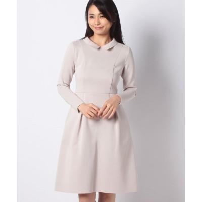 (MISS J/ミス ジェイ)【アンサンブル対応】AMOSSA 襟付きニットドレス/レディース ベージュ