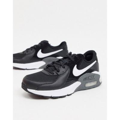 ナイキ Nike メンズ スニーカー シューズ・靴 Air Max excee in black ブラック