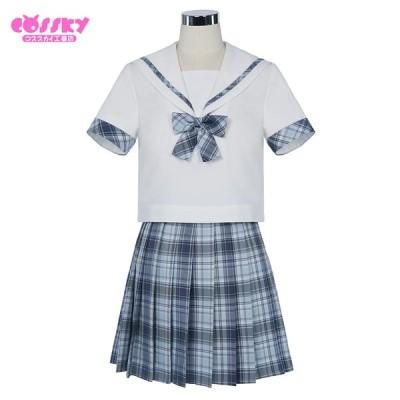 少女 学生服 セーラー 制服 半袖 JK制服 学生服 女子高校生 可愛い 清純 学園祭 文化祭 仮装 本格制服