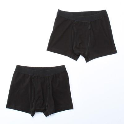 メンズ セブンプレミアムライフスタイル 紳士 ボクサーブリーフ 2枚組 ブラック S