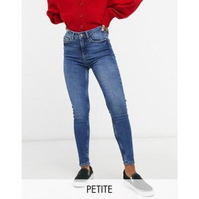 ニュールック New Look Petite レディース ジーンズ・デニム ボトムス・パンツ lift & shape skinny jean in mid blue ブルー