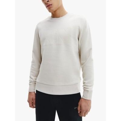 カルバンクライン パーカー・スウェットシャツ メンズ アウター Calvin Klein Flocked Box Logo Sweatshirt