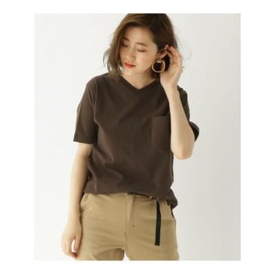 ベース コントロール BASE CONTROL 【WEB限定】半袖 ヘビーウェイトポケットTシャツ Vネック (ダークブラウン)