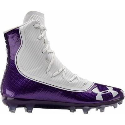 アンダーアーマー メンズ スニーカー シューズ Under Armour Men's Highlight MC Football Cleats Purple/White