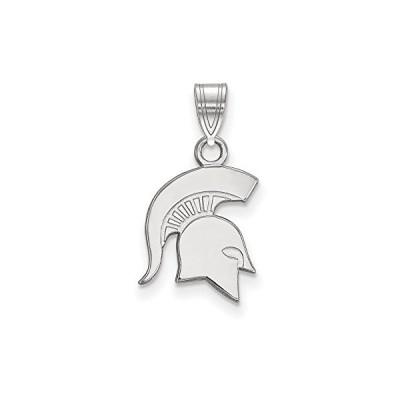 Michigan State スモール (1/2 Inch) ペンダント (Sterling Silver)(海外取寄せ品)