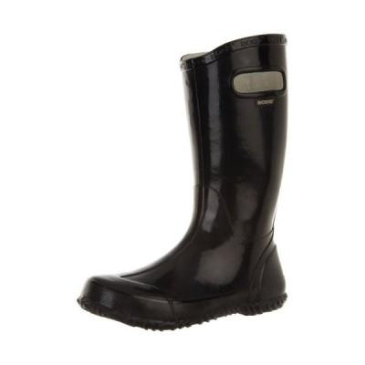 Bogs Boy's Rainboot Black Mid-Calf Rubber Rain Boot - 2M