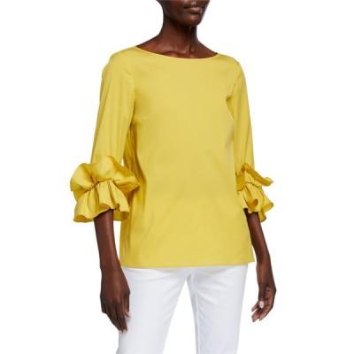 ラファイエットワンフォーエイト レディース シャツ トップス Whitby Italian Stretch Cotton Ruffle-Sleeve Blouse