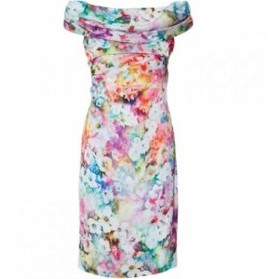 ジーナ バッコーニ Gina Bacconi レディース ワンピース ワンピース・ドレス Saletta Floral Satin Dress Multi-Coloured