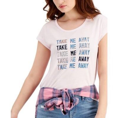スタイルアンドコー Tシャツ トップス レディース Graphic-Print Cuffed T-Shirt, Created for Macy's Take Me Away