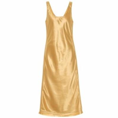 アクネ ストゥディオズ Acne Studios レディース ワンピース ワンピース・ドレス Satin midi dress Yellow Gold