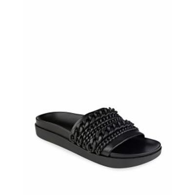 ケンダル+キリー レディース シューズ サンダル Shiloh Chain-Link Leather Pool Slide Sandals