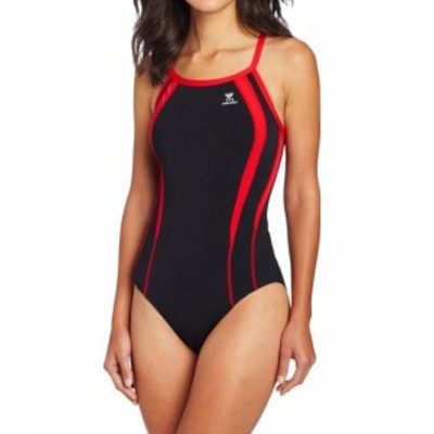 tyr ティア スポーツ用品 スイミング TYR Womens Swimsuit Red Black Size 26 DiamondFit Durafast One-Piece