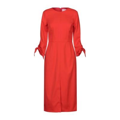 CAROLINA HERRERA 7分丈ワンピース・ドレス レッド 0 バージンウール 98% / ポリウレタン 2% 7分丈ワンピース・ドレス