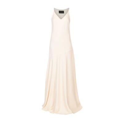 セドリック シャルリエ CEDRIC CHARLIER ロングワンピース&ドレス アイボリー 40 ポリエステル 100% ロングワンピース&ドレス
