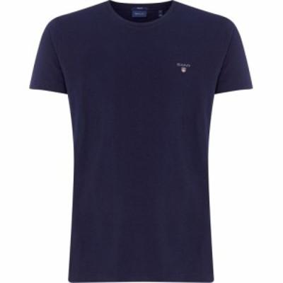 ガント Gant メンズ Tシャツ ロゴTシャツ トップス Crew Logo T Shirt Navy