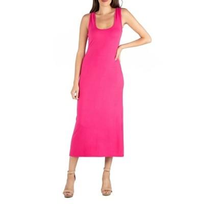 24セブンコンフォート ワンピース トップス レディース Scoop Neck Maxi Dress with Racerback Detail Pink