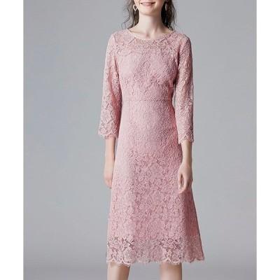ドレス 総レースマキシワンピースドレス