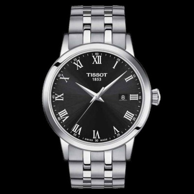 ティソ 腕時計 Tissot Classic クラシック Dream Stainless Steel Black Dial メンズ Watch T129.410.11.053.00