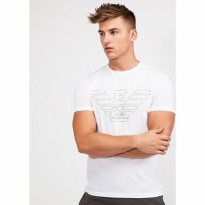 アルマーニ Emporio Armani メンズ Tシャツ トップス Lounge Largo Logo T-Shirt White/Black