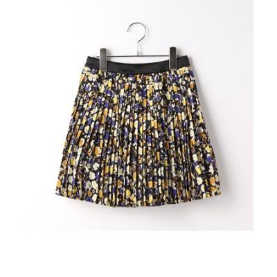 〔140cm~〕フラワープリントプリーツスカート
