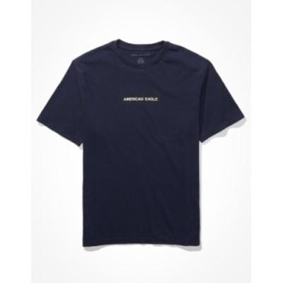 アメリカンイーグル メンズ Tシャツ トップス AE Super Soft Icon Graphic T-Shirt Navy