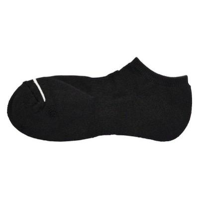 無印良品 足なり直角 足底パイル編み スニーカーイン靴下 紳士 25〜27cm 黒 良品計画