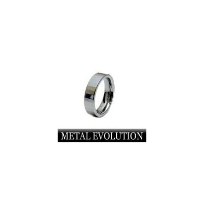 METAL EVOLUTION[メタルエボリューション] TSR-003 タングステンリング(指輪) ステンレスチェーン付 【メンズ/レディース/ペアー】
