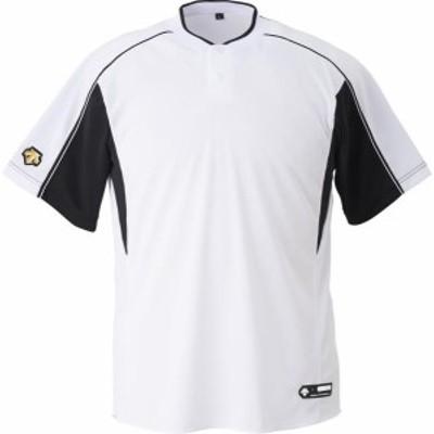 DESCENTE 野球 ソフトボール ジュニア 野球 2ボタンベースボールシャツ 19FW SWBK Tシャツ(jdb104b-swbk)