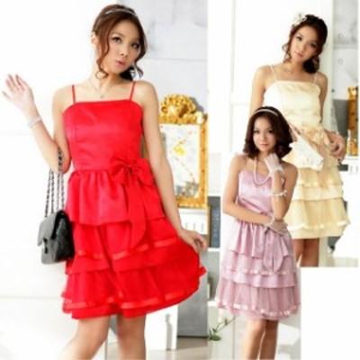 即納 ミニドレス パーティードレス タイトスカート ミニ ドレス ワンピース ノースリーブ 袖なし ティアードスカート 大きいサイズ