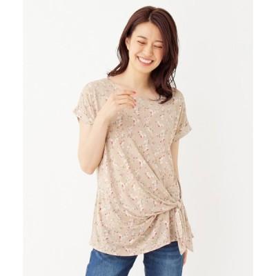 tシャツ Tシャツ 【M-LLまで】裾リボンプルオーバー