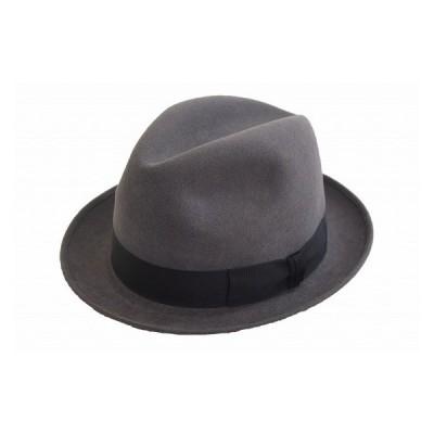 中折れ帽 リンカーン NK-20 グレー 帽子 ハット ファッション メンズ 紳士 上品 シンプル 兎毛 フォーマル お値打ち スーツ フォーマル ネット通販 秋冬