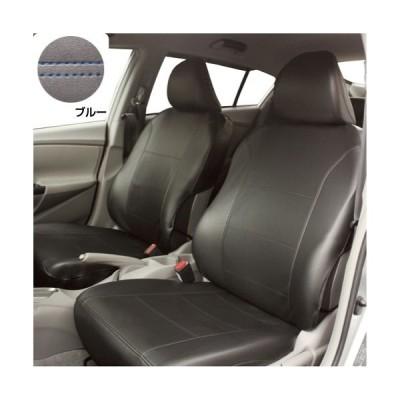 錦産業 TO-03 普通車用フリーサイズ前席用1枚セット ブラック&ブルーステッチ