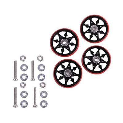 ルボナリエ ミニ四駆 ファーストトライパーツセット モーター コース アルミローラー ベアリングローラー (黒赤)