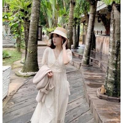 リゾートワンピ-ス リゾート ワンピース ハワイ オルチャン ファッション 夏服 レディース 韓国風 レディース ファッション 大人可愛い