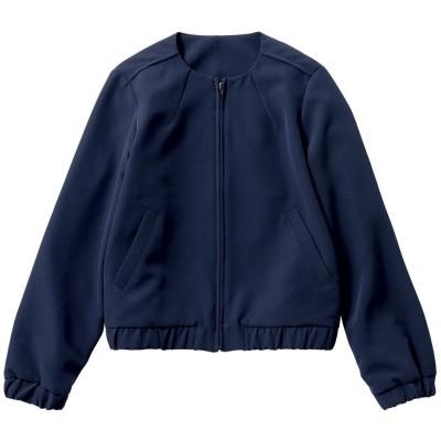 ジップアップノーカラーブルゾン (ジャケット・ブルゾン)(レディース)Jackets