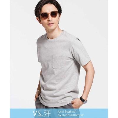 【ナノ・ユニバース】《汗染み防止》Anti Soaked ヘビークルーネックTシャツ