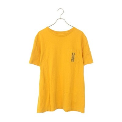 クロムハーツ Chrome Hearts CH T-SHRT/1 サイズ:L マスタードカラープリントポケットTシャツ 中古 SJ02