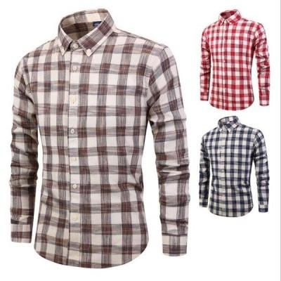 メンズチェックシャツ カジュアル ビジネス スリムシャツ 綿着心地良い サイズ多い 通気性 ボタンシャツ 春 物新作発売