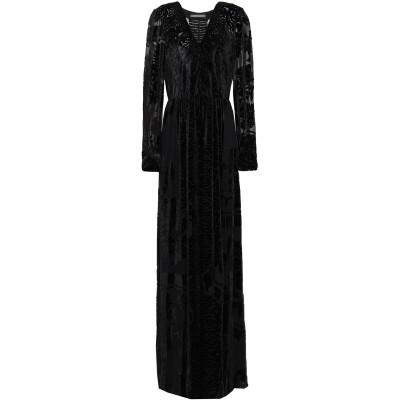アルベルタ フェレッティ ALBERTA FERRETTI ロングワンピース&ドレス ブラック 40 アセテート 84% / シルク 10% / ポ