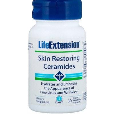 お肌を回復させるセラミド、液体ベジタリアンカプセル30粒