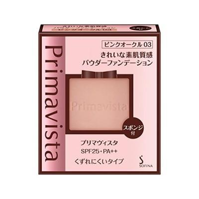 くずれにくい きれいな素肌質感パウダーファンデーション ピンクオークル03 SPF25 9g (レフィル)